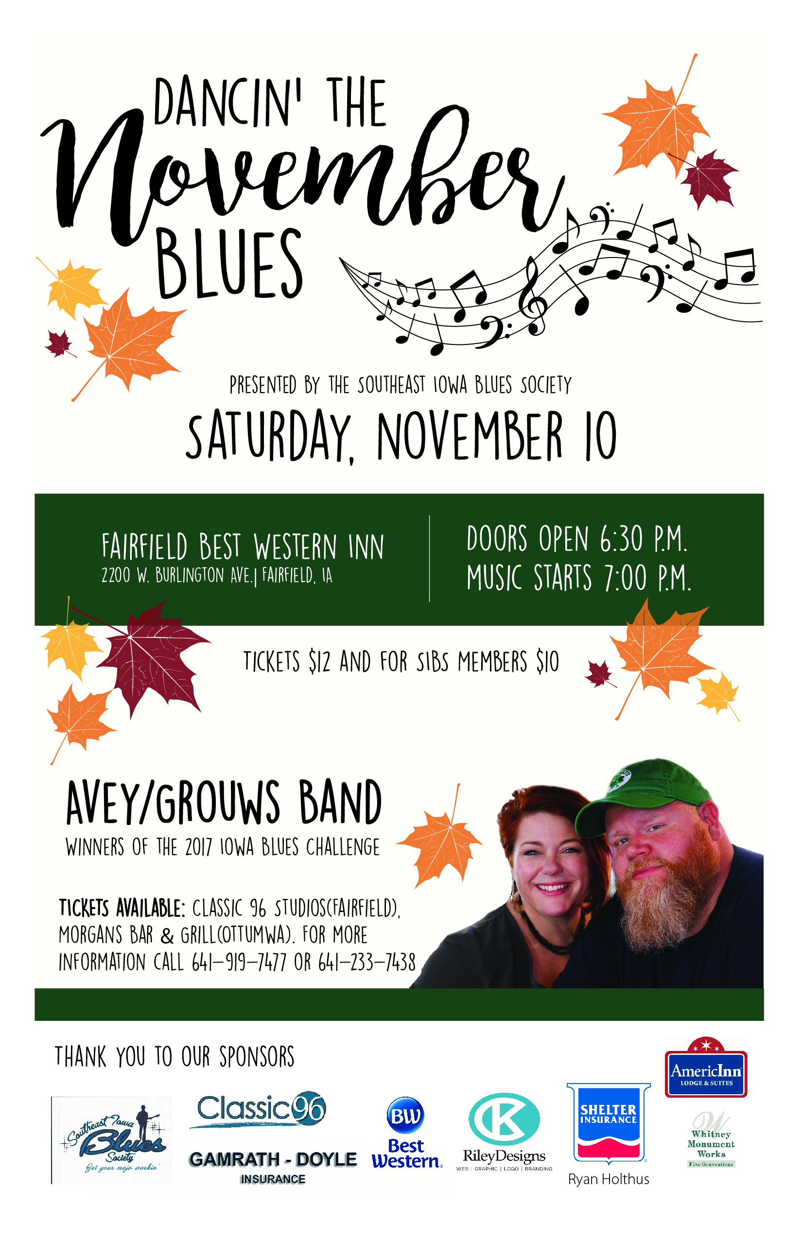 Bezaubernd November Blues Beste Wahl Featuring The Avey Grouws Band, At The